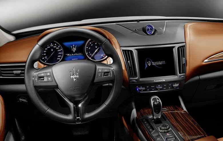 interior of Maserati Levante 2017