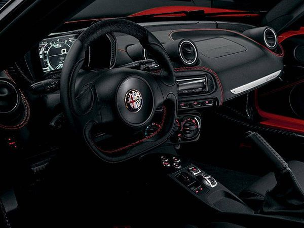 Interior of 2017 Alfa Romeo 4C