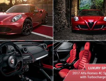 Luxury Sports Cars – 2017 Alfa Romeo 4C Sports Coupe with Turbocharged V4 Engine