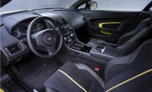Interior of 2017 Aston Martin V12 Vantage
