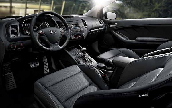 Interior of the 2017 Kia Cerato Koup