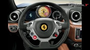 Interior of the Ferrari California 2017