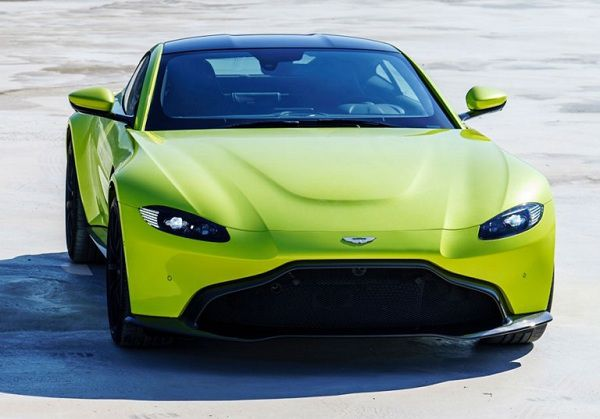 Exterior of the 2018 Aston Martin Vantage