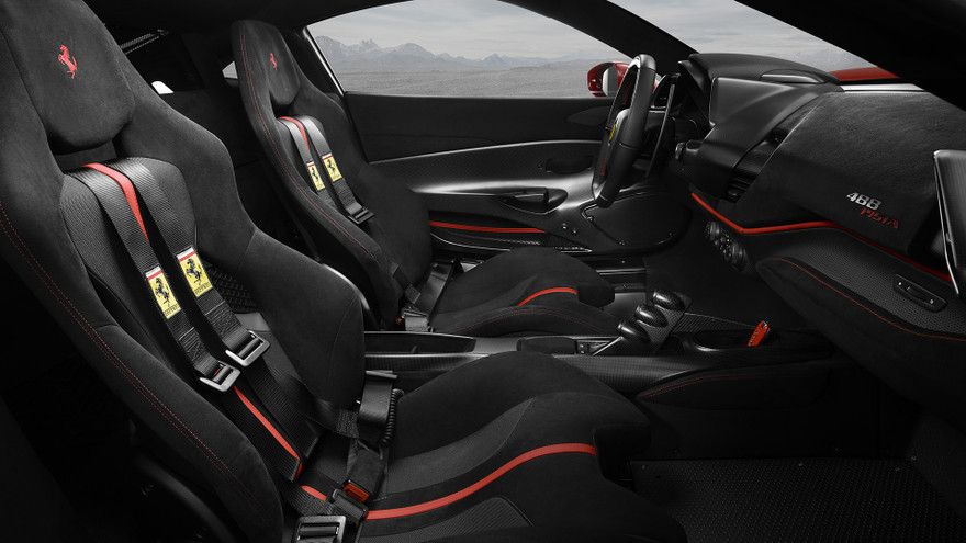Interior Design of the 2018 Ferrari 488 Pista