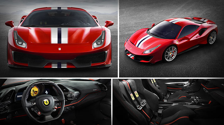 Dubai Sports Car – 2018 Ferrari 488 Pista with Powerful V8 Engine
