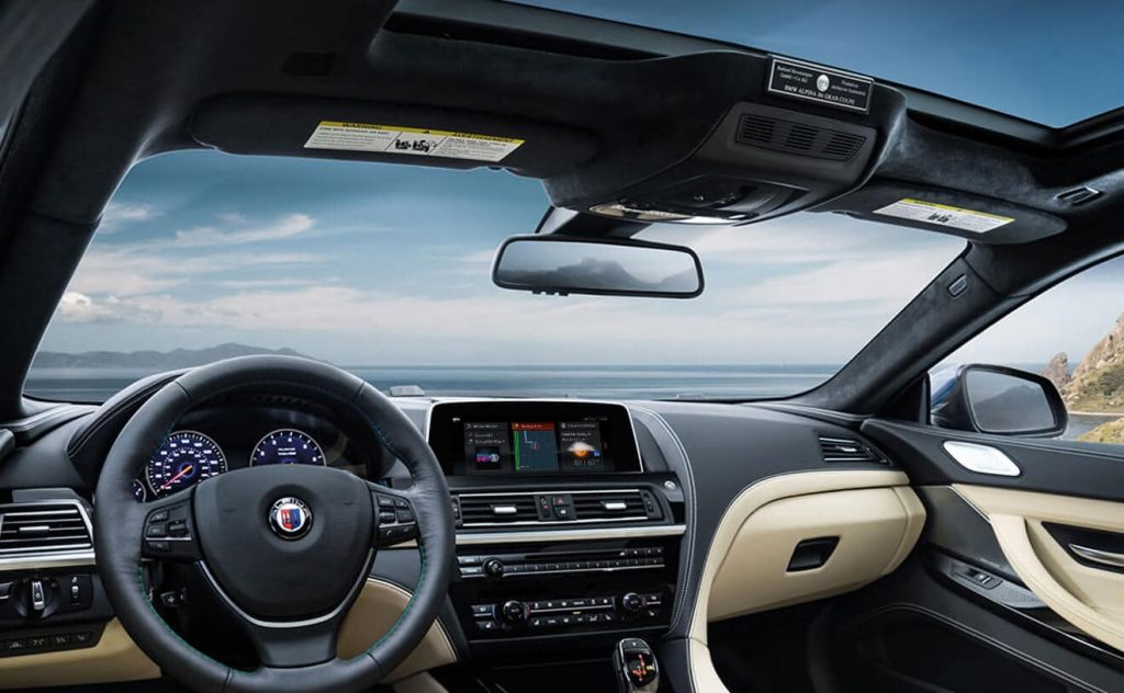 Interior of the 2019 BMW Alpina B6