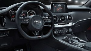 Interior of 2020 Kia Stinger