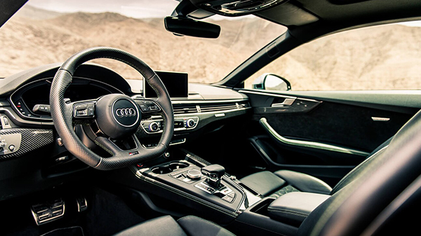 Interior of 2020 Audi RS 5 Coupe