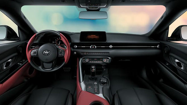 Interior of 2021 Toyota GR Supra